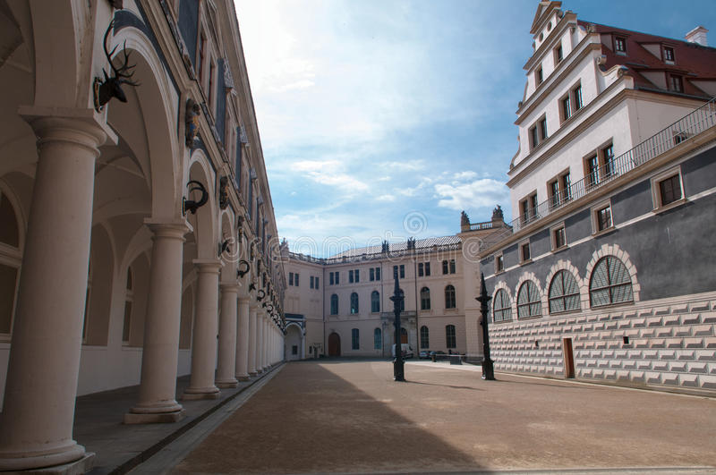 Download Courtyard Of Stalhof, Dresden Stock Photo - Image of white, europe: 31712504