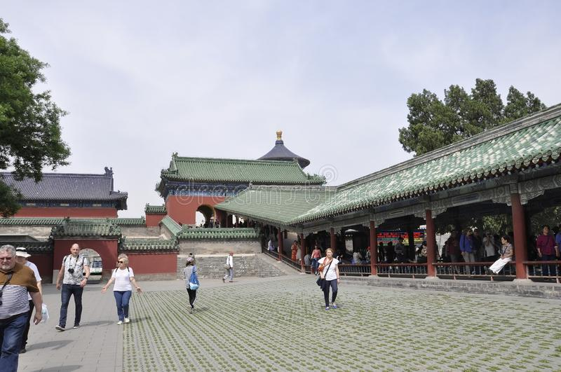 Beijing, 7th may: Temple of Heaven imperial Complex of religious buildings in Beijing royalty free stock images