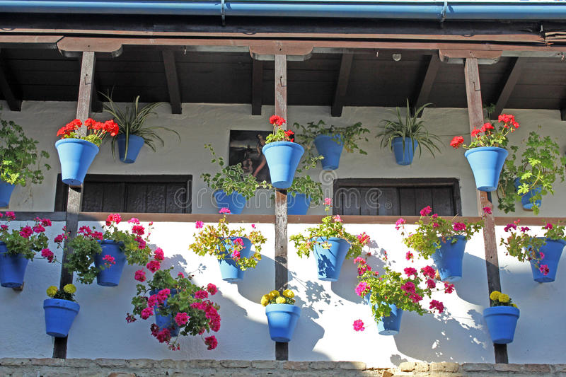 Download Courtyard Of A Typical House In Cordoba Stock Photo - Image of decoration, balcony: 24672386