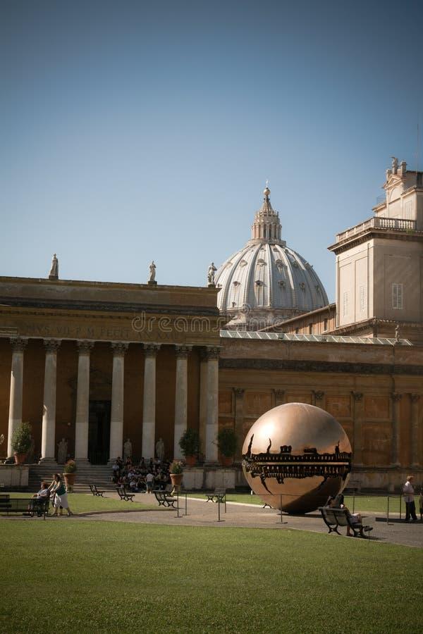 Courtyard of the Vatican Museum stock photos