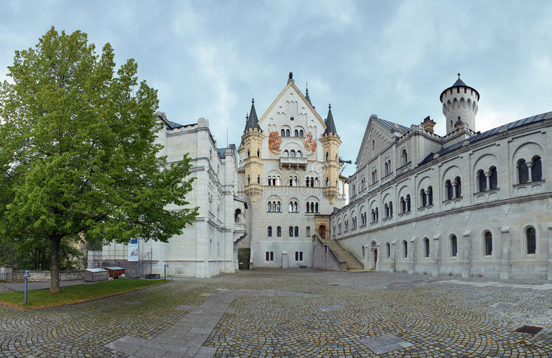 Download Courtyard View Of Neuschwanstein Castle In Bavaria Stock Image - Image: 21030821