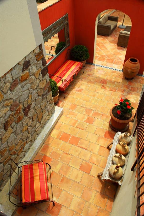 Courtyard Of A Villa Royalty Free Stock Photography