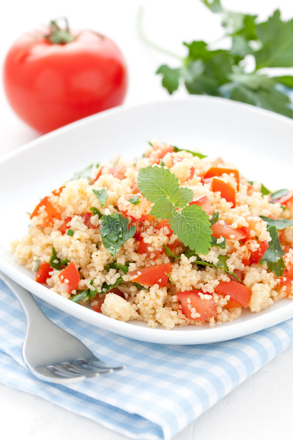 Download Couscous stock image. Image of lunch, bulgur, tomato - 19690631