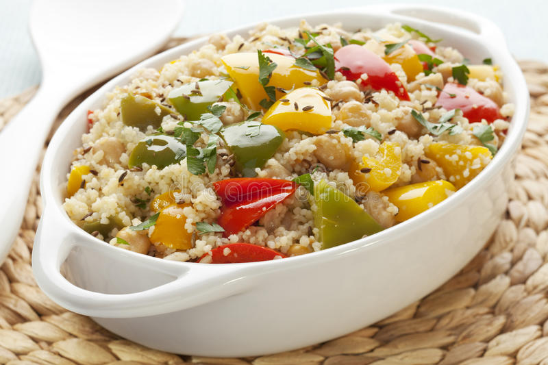 Download Couscous With Chickpeas And Peppers Stock Image - Image: 25124983
