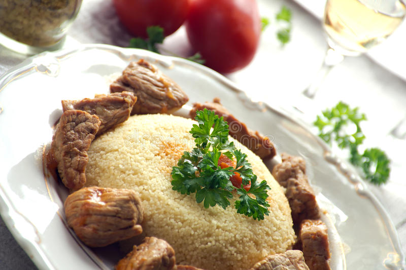 Couscous With Meat Royalty Free Stock Photo