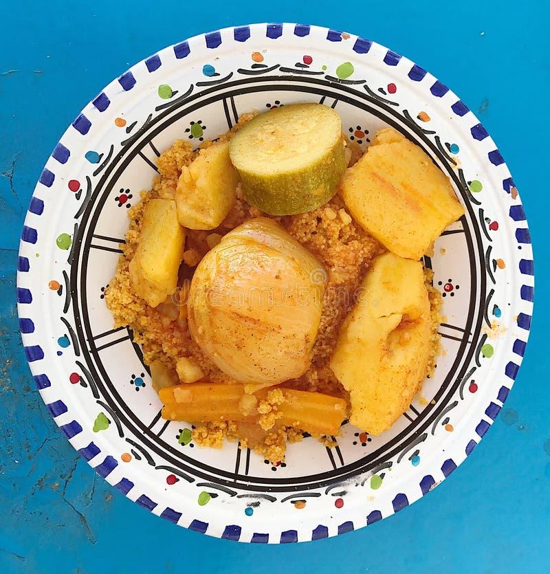 Couscous med grönsaker arkivbilder