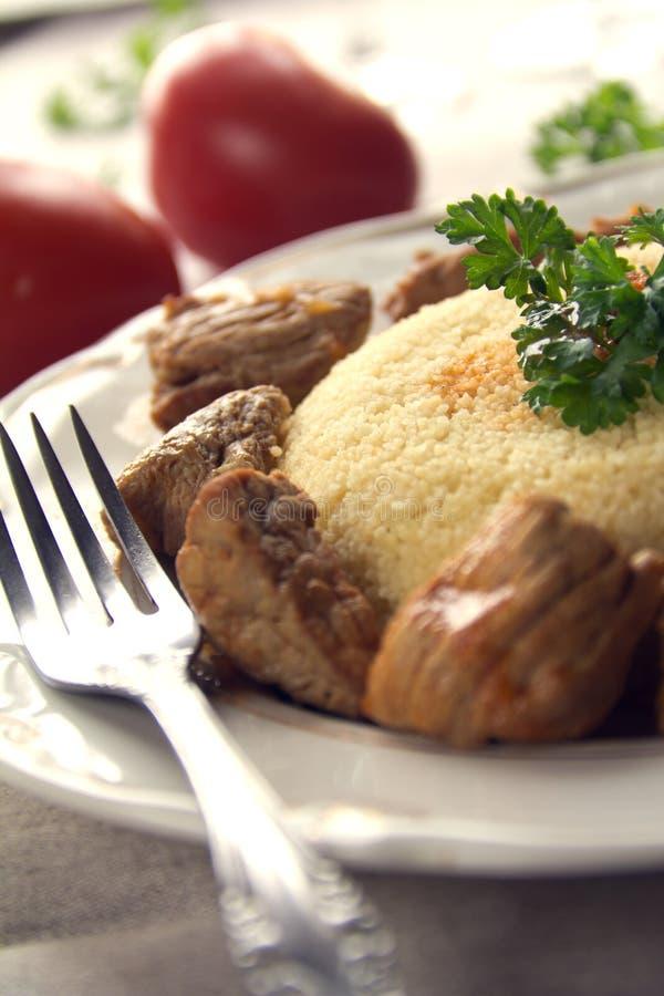 couscous mięso zdjęcia royalty free