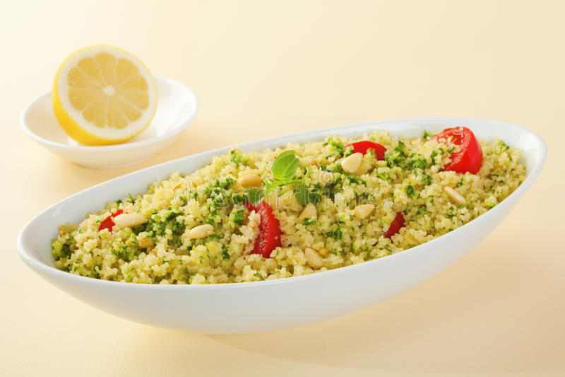 Download Couscous Salad stock photo. Image of horizontal, nuts - 28629864