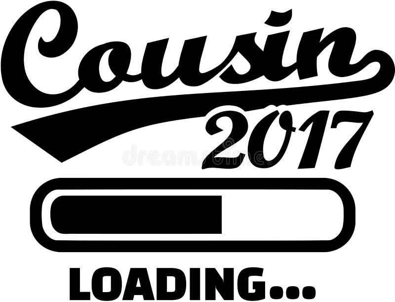 Cousin 2017 - Loading bar. Family vector stock illustration