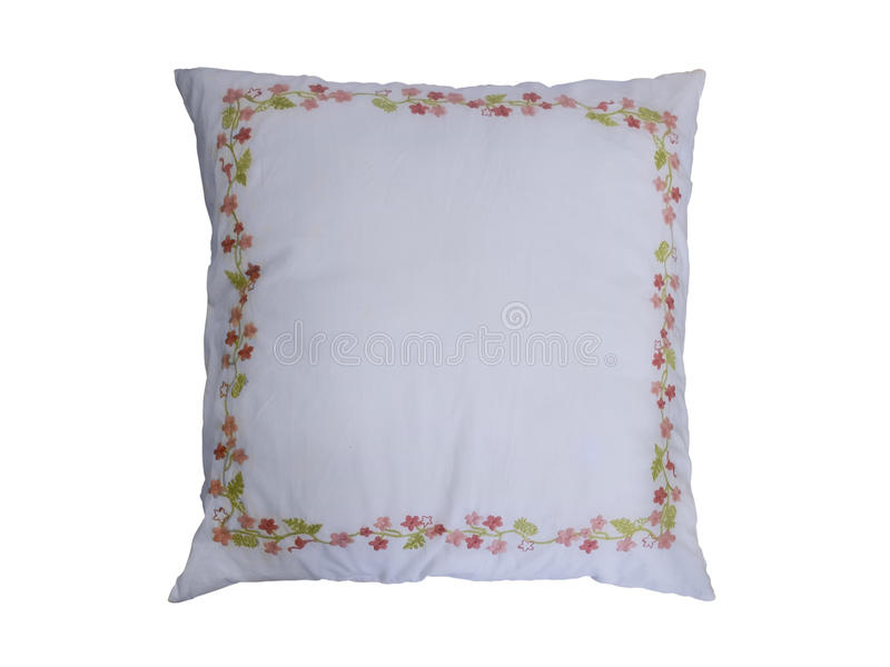 Coussin décoratif de divan image stock