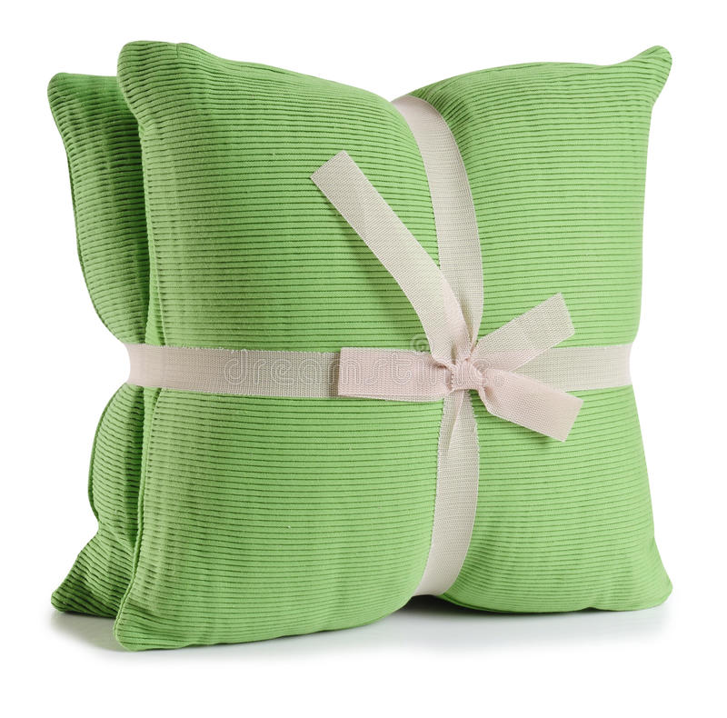 Coussin. D'isolement photographie stock