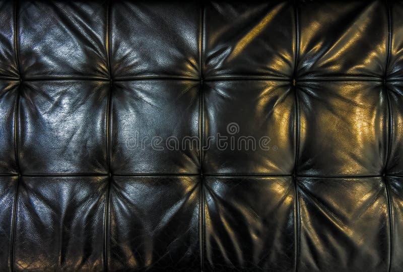 Coussin en cuir noir photo stock