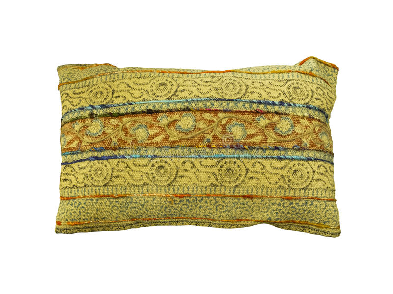 Coussin fabriqué à la main de vintage décoratif images stock
