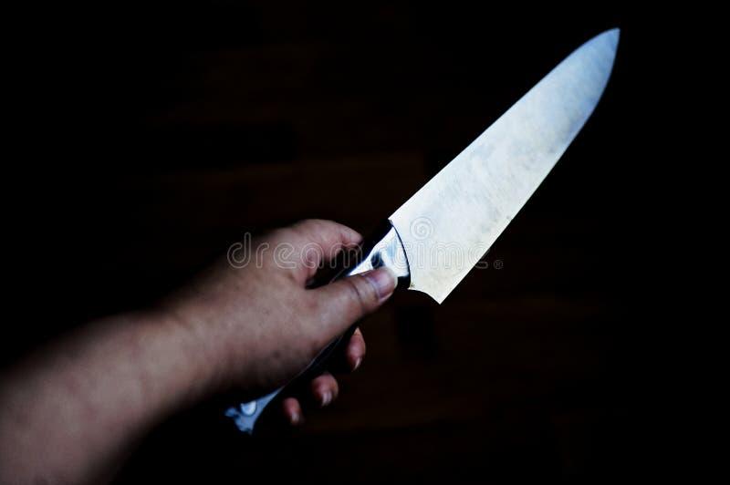 Couteau à disposition images libres de droits