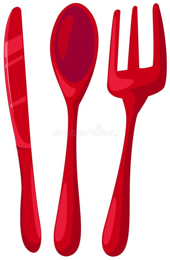 Couteau, cuillère, fourchette illustration stock