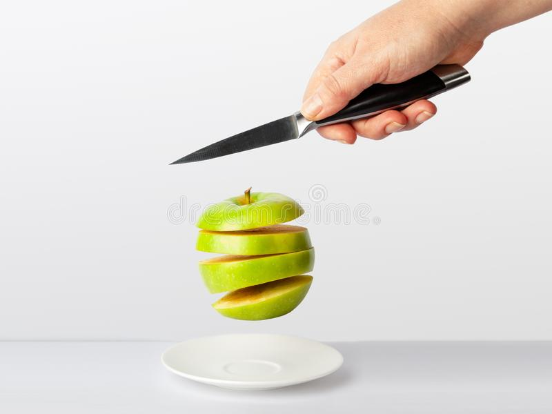 Couteau d'acuité de concept photo stock