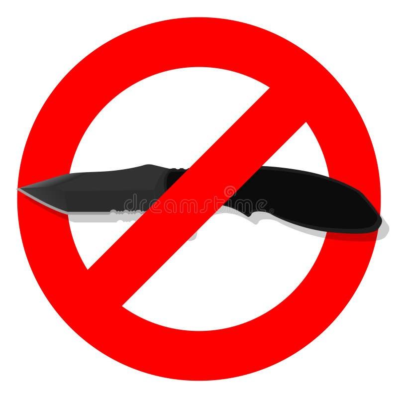 Couteau d'ic?ne illustration libre de droits