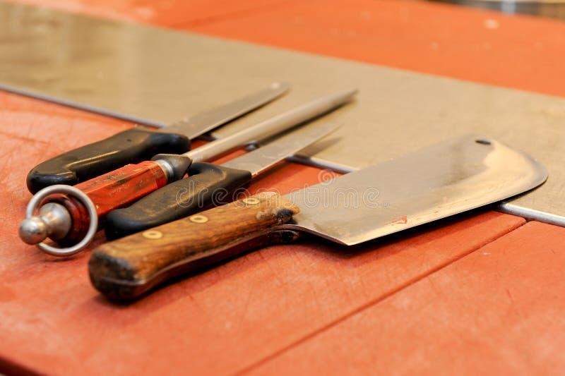 Couteau de boucher photographie stock libre de droits