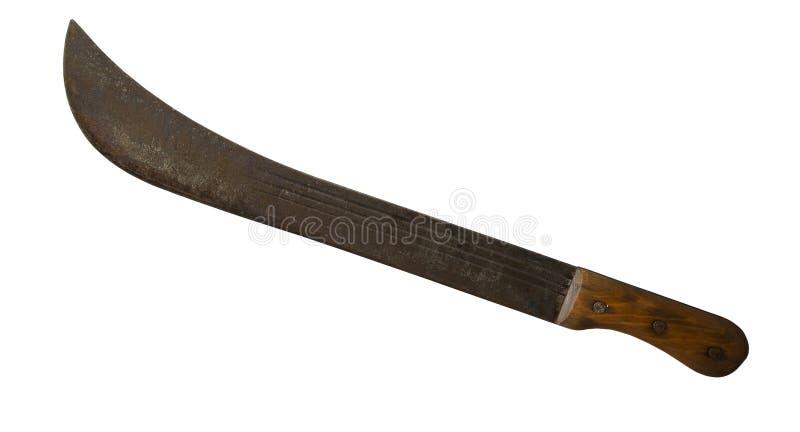 Couteau de boucher de cru image libre de droits