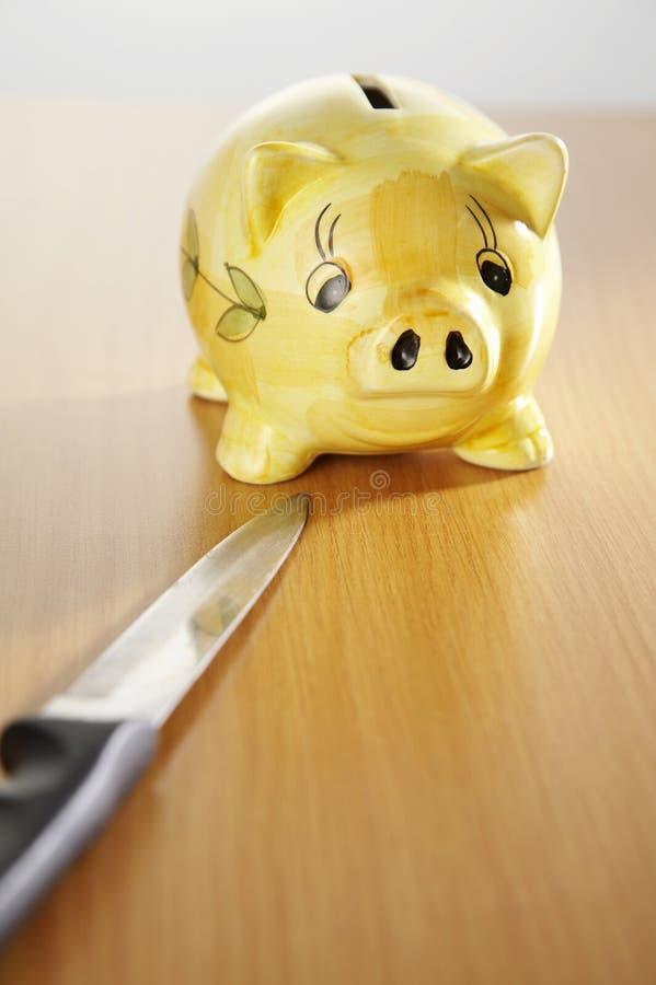 couteau de côté porcin images libres de droits