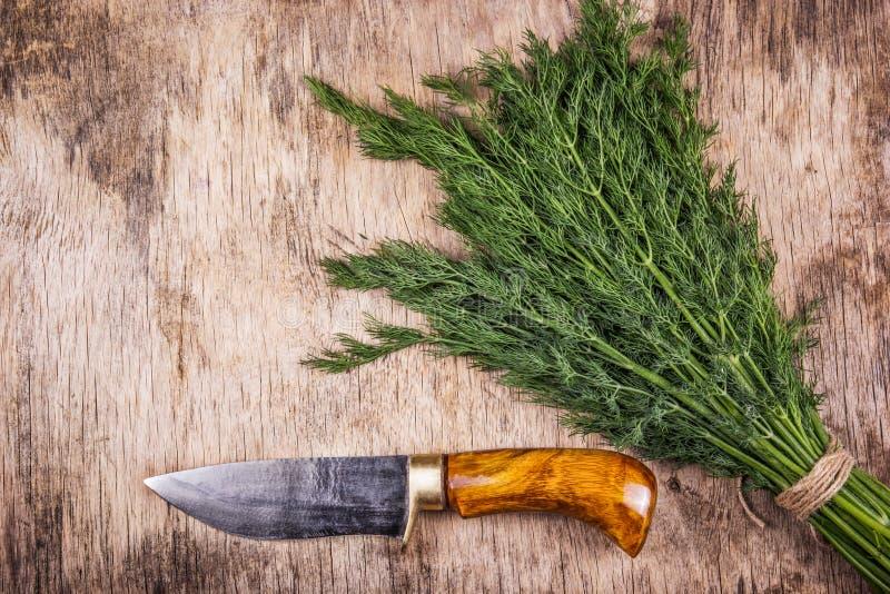 Couteau de cuisine masculin fait main Couteau brutal avec la poignée en bois Couteau pour l'homme photographie stock libre de droits