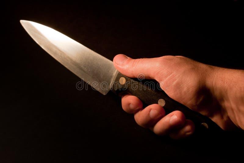 Couteau de fixation de main. images libres de droits