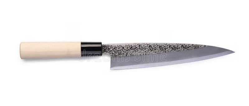Couteau de santoku d'acier inoxydable photo libre de droits