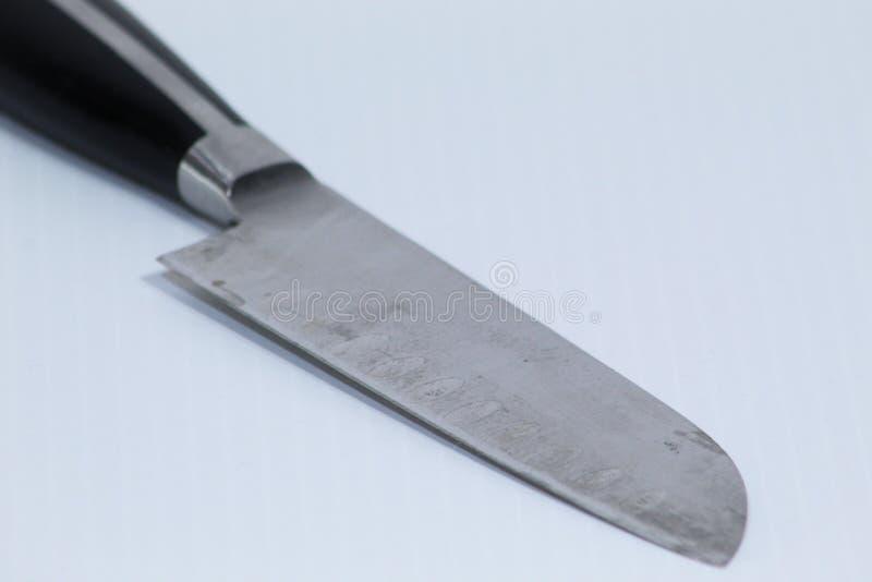 Couteau de Santoku laissé image stock