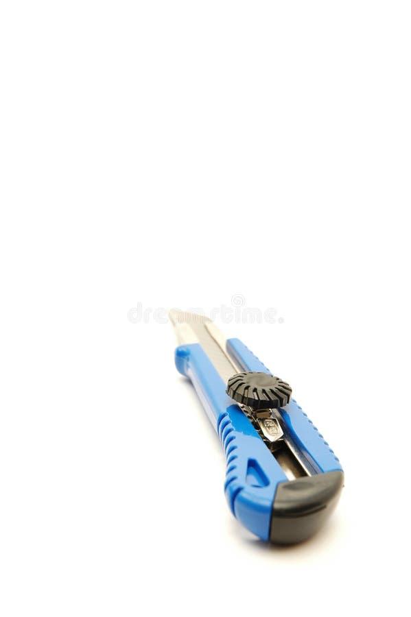 Couteau de service de coupeur de cadre au-dessus de blanc images libres de droits