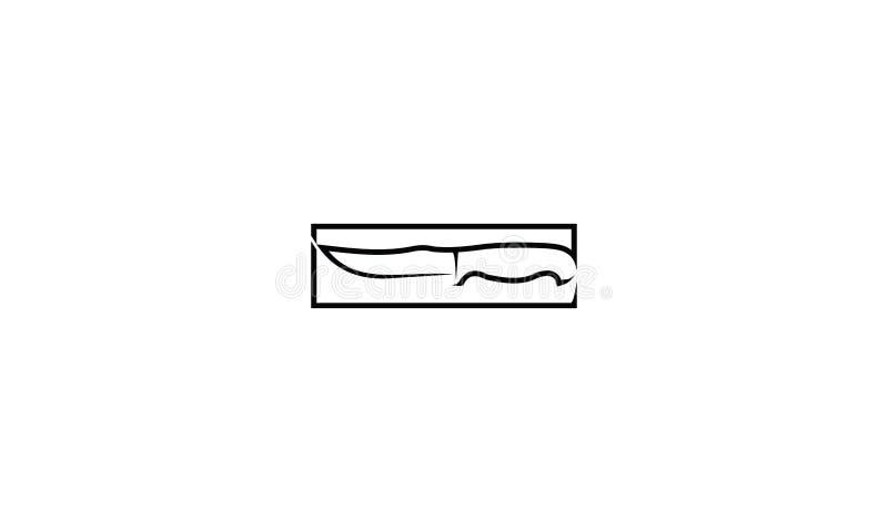 Couteau de variation avec rectangulaire photographie stock libre de droits