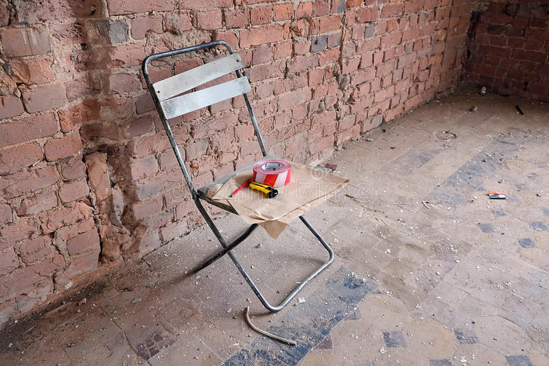 Couteau et crayon de construction photo libre de droits