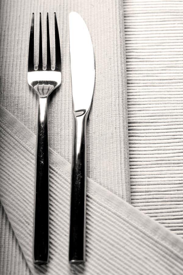 Couteau et fourchette photos stock