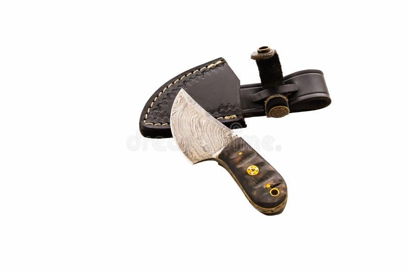 Couteau fabriqué à la main spécial de métier avec le sabot en acier photographie stock