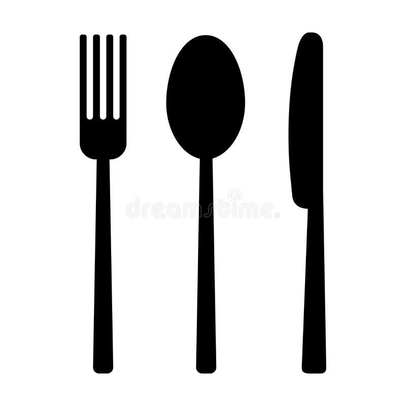 Couteau, fourchette et cuillère illustration libre de droits