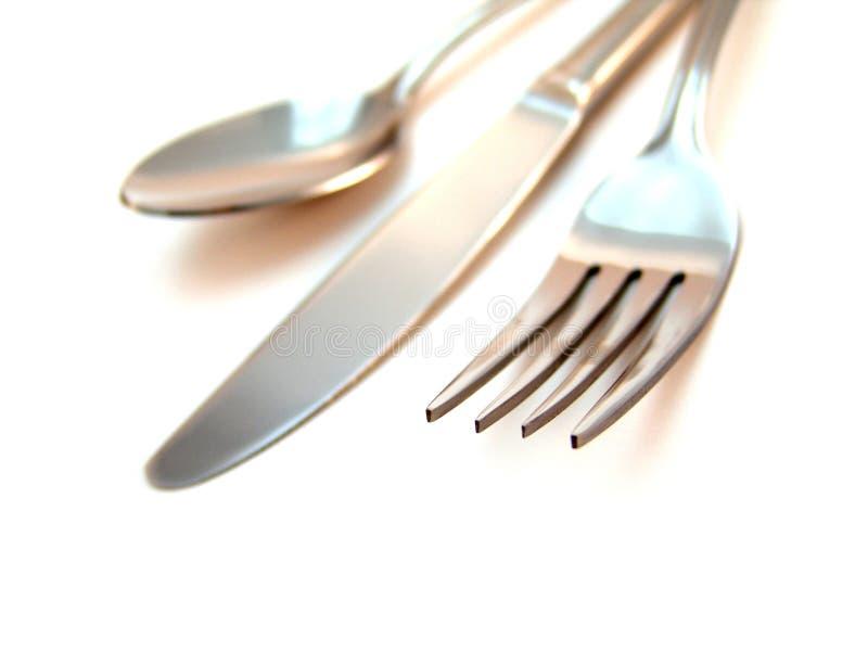 Couteau, fourchette et cuillère photo libre de droits
