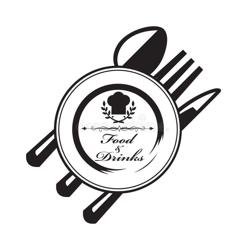 Couteau, fourchette et cuillère illustration de vecteur