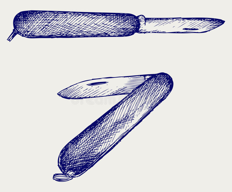 Couteau Militaire Suisse Image libre de droits