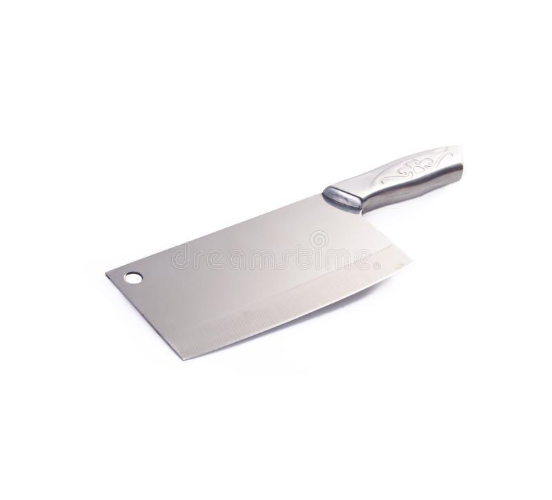 couteau ou couteau de cuisine chinois sur le fond images libres de droits