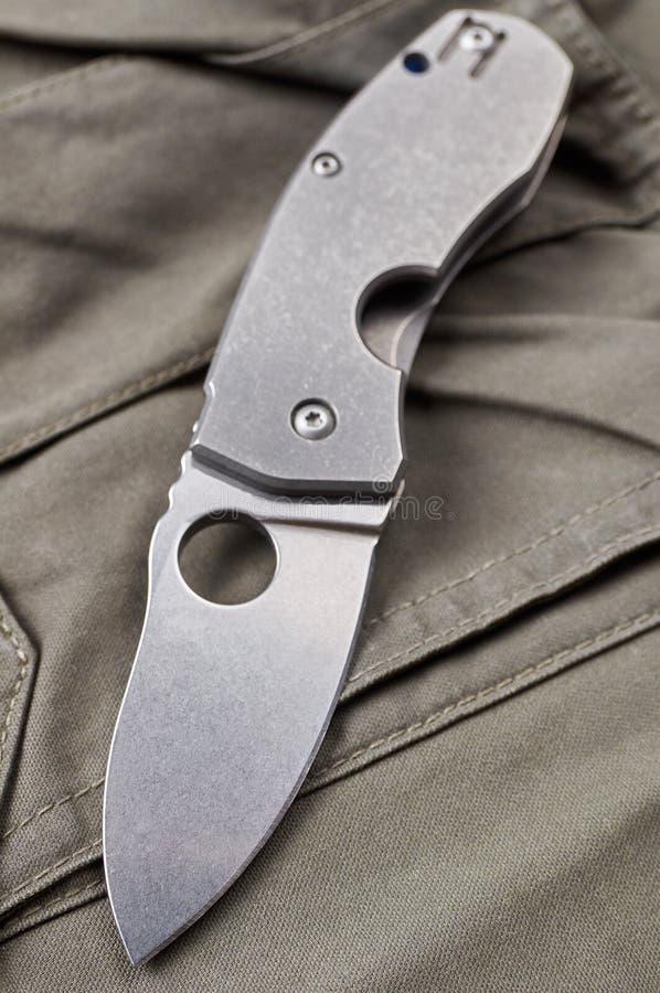 Couteau se pliant photographie stock