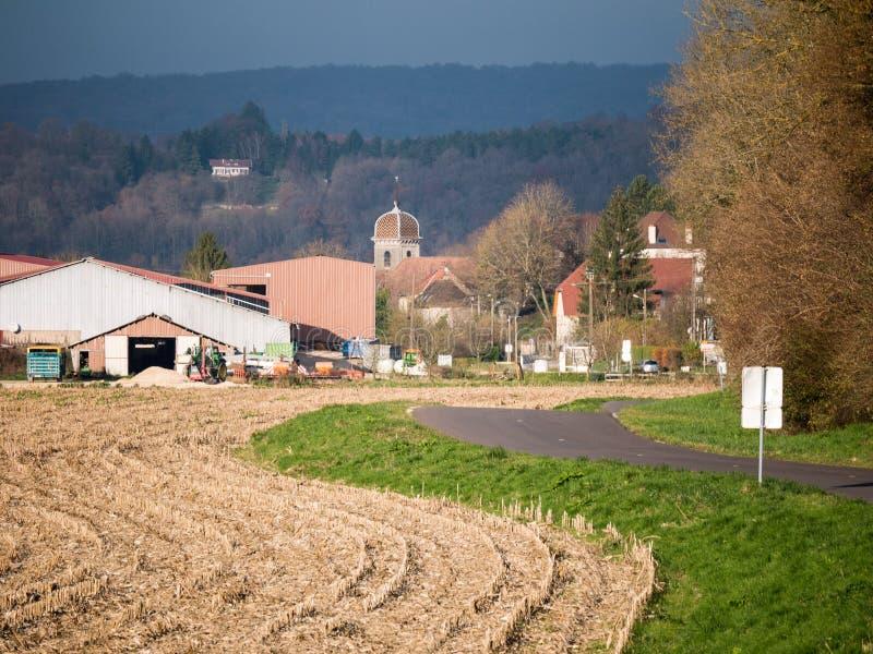 Coutryside in Ost-Frankreich lizenzfreie stockfotografie