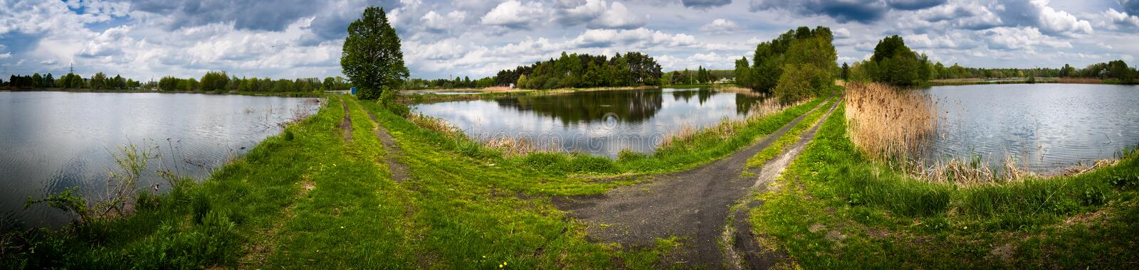 Download Coutryside panorama stock photo. Image of lake, green - 14246674