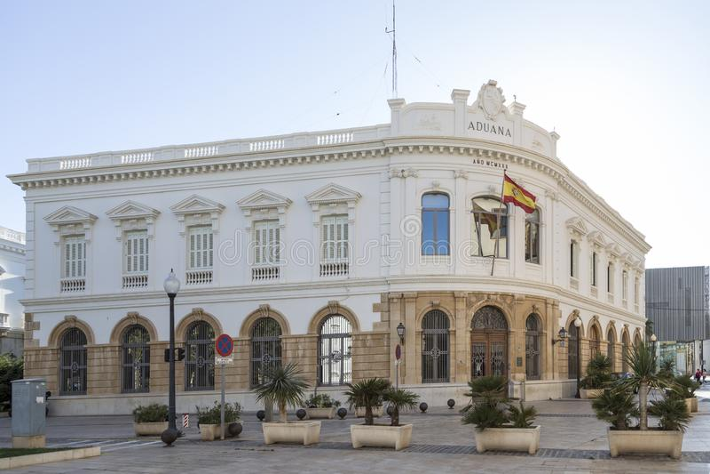 Coutumes construisant à Carthagène, Murcie, Espagne photos libres de droits