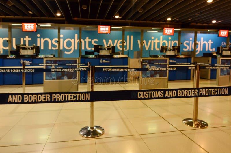 Coutumes et service de protection australiens de frontière images stock