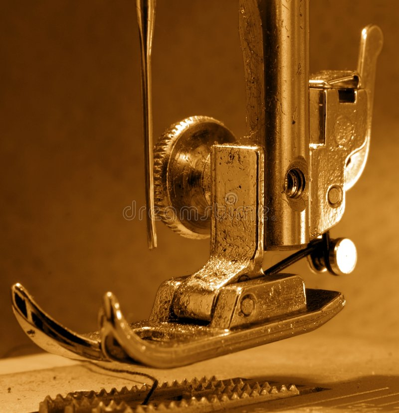 couture de machine image stock