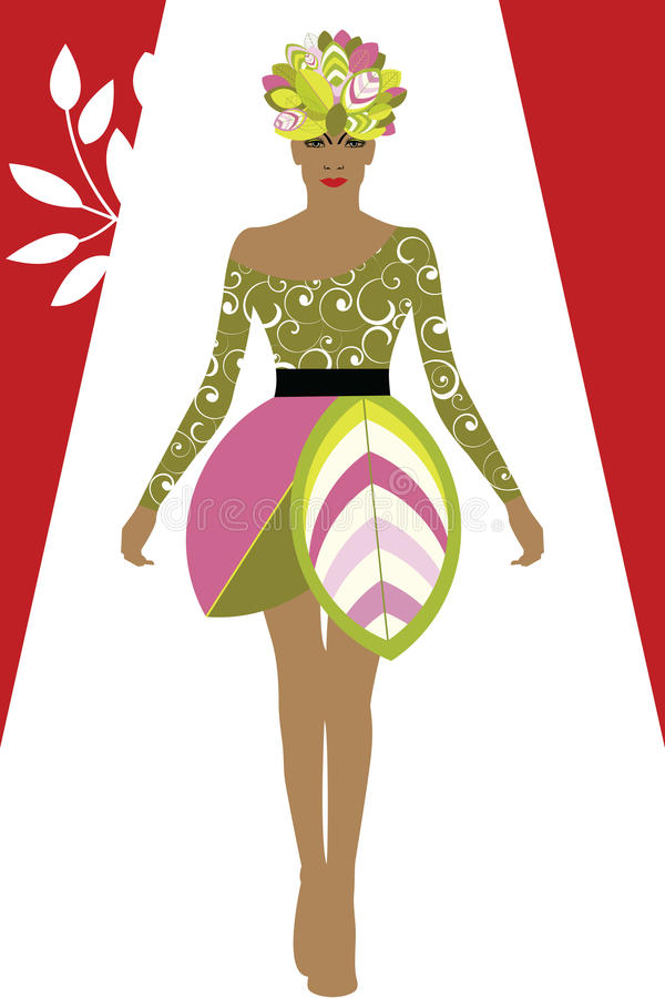 Couture fashion Environment vector illustration