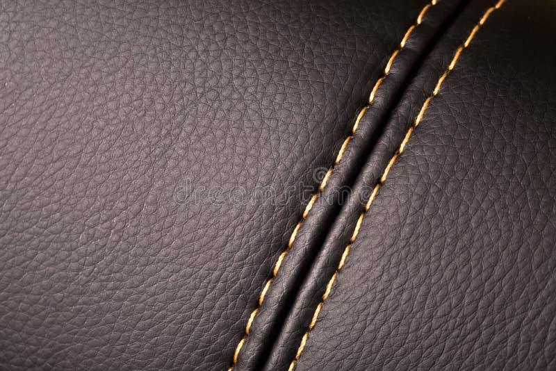 Couture sur le cuir photographie stock