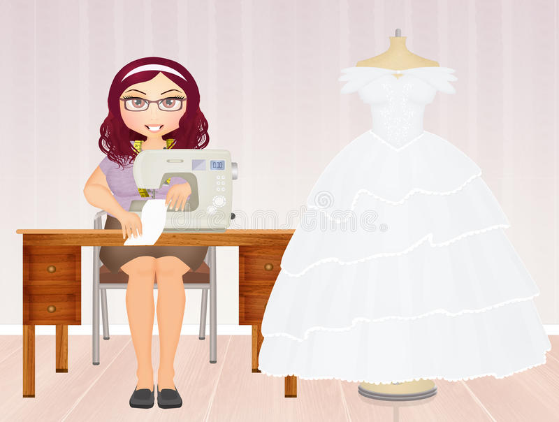 Couture wedding dresses stock illustration