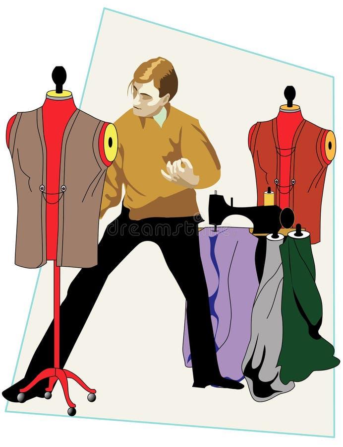 Couturier illustration de vecteur