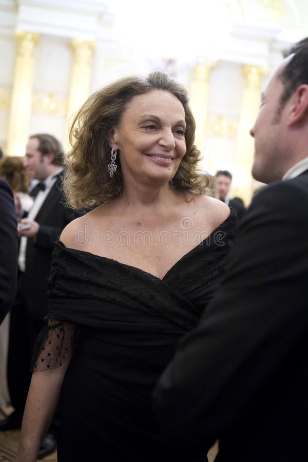 Couturier Diane von Furstenberg stock foto's