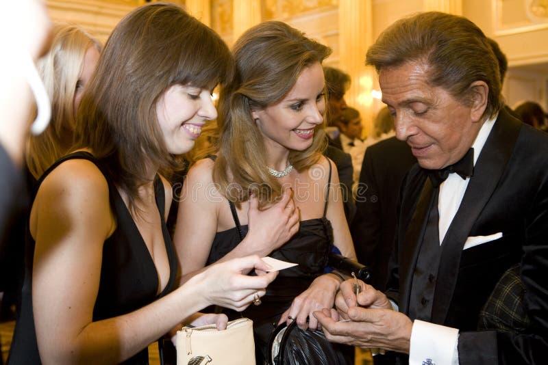Couturier Valentino royalty-vrije stock afbeeldingen